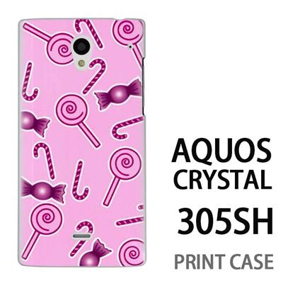 AQUOS CRYSTAL 305SH 用『No3 キャンディー柄』特殊印刷ケース【 aquos crystal 305sh アクオス クリスタル アクオスクリスタル softbank ケース プリント カバー スマホケース スマホカバー 】の画像