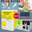 Christmas gift❤PIGGY BANK❤NEW Cartoon DESIGNS! Mini ATM Password Piggy Bank Auto feed Cash Coin /Money Saving Box/Coin bank