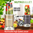 NutriBullet Premium High Speed Juicer NB600 / NB900 / Mixer / BPA-FREE / Powerful Mixing Performance