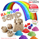Rainbow Sand - 2KG Sand (Free Container + 10 Piece Mold) SINGAPORE SELLER - Magic Sand that does not leave a mess! ( Kinetic Sand 2 )