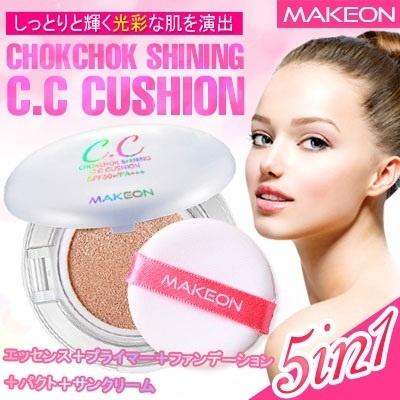 new!![MAKEON]][MD積極的にお勧め]/メイクオン 光彩CCクッション(本品+リフィル)21号/23号/  紫外線遮断の3重機能性認証/ 韓国コスメ/の画像