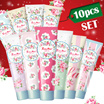 ★Christmas Gift Idea!!★10PCS SET★RoseMine Perfumed Handcream(60mlx10pcs)/10 kind of lovely flower design/Recommend Present/Containing Luxury perfumes.