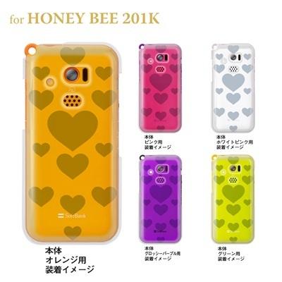 【HONEY BEE ケース】【201K】【Soft Bank】【カバー】【スマホケース】【クリアケース】【トランスペアレンツ】【ビッグハート】 06-201k-ca0021lの画像