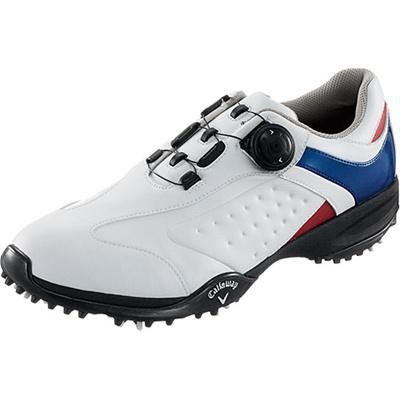 キャロウェイ(Callaway) ツアースタイル スポーツ LS 15 JM ゴルフ スパイク WHT/NVY/RED 【メンズ 靴 シューズ】の画像