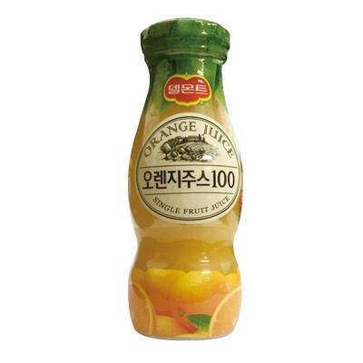 【韓国食品・韓国飲み物】 ■韓国の飲み物オレンジジュース100%(瓶180ml)■の画像