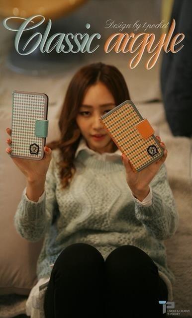 iPhone6 ケース 手帳 手帳型 手帳型ケース iphone5S iphone5 6plus スリム アイフォン6 Plus カバー スマホケース スマホカバー かわいい おしゃれ Galaxy S5 S4 S3 NOTE3 NOTE2 Galaxy SC-01F SCL22 SC-02E カードホルダー T-POCKET ClassicArgyleの画像