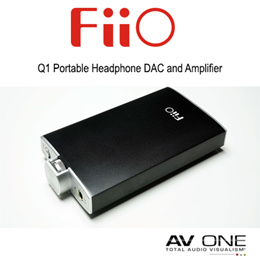 [FiiO] Q1 Portable Headphone DAC and Amplifier / Black Color / 1 Year Local warranty from Authorized Distributor / Official Product