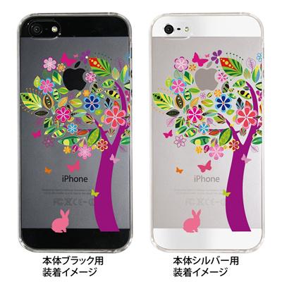 【iPhone5S】【iPhone5】【iPhone5sケース】【iPhone5ケース】【カバー】【スマホケース】【クリアケース】【フラワー】【花とウサギ】 22-ip5-ca0074の画像