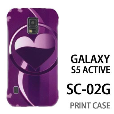 GALAXY S5 Active SC-02G 用『No3 サークルハート紫』特殊印刷ケース【 galaxy s5 active SC-02G sc02g SC02G galaxys5 ギャラクシー ギャラクシーs5 アクティブ docomo ケース プリント カバー スマホケース スマホカバー】の画像