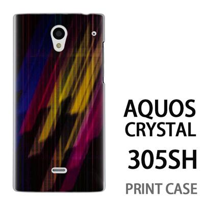 AQUOS CRYSTAL 305SH 用『No3 カラフル閃光』特殊印刷ケース【 aquos crystal 305sh アクオス クリスタル アクオスクリスタル softbank ケース プリント カバー スマホケース スマホカバー 】の画像