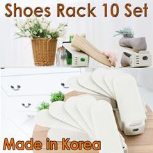 Shoes Rack 10 Set/Shoes Organiser Space Saving Rack/Shoe Holder/Silp/Wide/Made in Korea