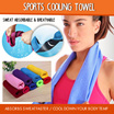 Sports Cooling Towel 2 Pieces and 4 Pieces Set/Faster to absorb the sweat/Cool down your body temp.
