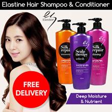 [1+1]Elastine Shampoo/On The Body Perfume Body Wash 500ml/Sweet Love/Happy Breeze/Nature Garden