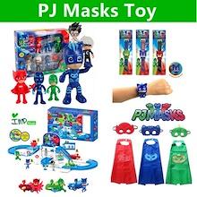 ★IMP HOUSE★[Kids Toy][PJ Masks] 6Pcs Set PJ Masks Figure/cap/mask/cape/watch/Parking Lot