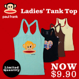 [Paul Frank] Qoo10 Black Friday Exclusive!! Women Fitted Tank Top! Cotton/Spandex. 4 design/Size XS-XL available. Free Store Pickup. 100% Authentic