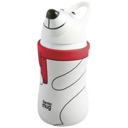 thermo mug サーモマグ アニマルボトル ポーラーベア (ホワイト) 380ml 子供用水筒 ストローボトル キッズ アウトドア