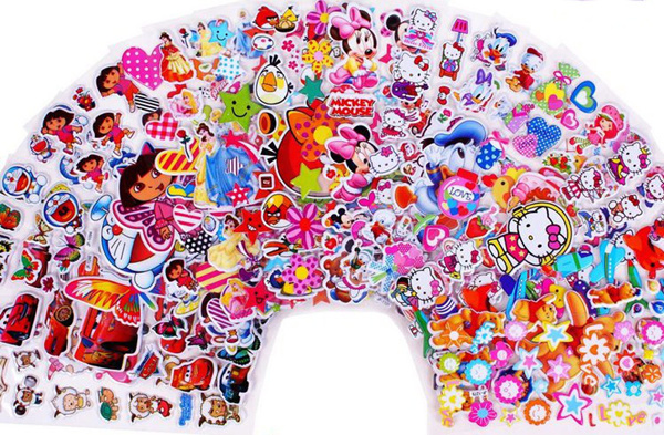 stickers*Cartoon Stickers*goodie bag*Pororo*pokemon*Peppa Pig*Little Pony*Thomas Train*many design Deals for only S$0.7 instead of S$0