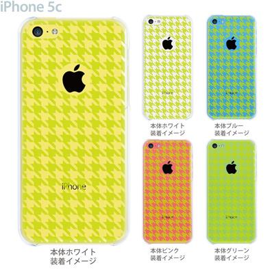 【iPhone5c】【iPhone5c ケース】【iPhone5c カバー】【ケース】【カバー】【スマホケース】【クリアケース】【チェック・ボーダー・ドット】【千鳥格子】 21-ip5c-ca0020の画像