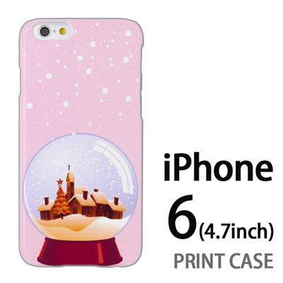 iPhone6 (4.7インチ) 用『1222 冬景色in水晶 ピンク』特殊印刷ケース【 iphone6 iphone アイフォン アイフォン6 au docomo softbank Apple ケース プリント カバー スマホケース スマホカバー 】の画像