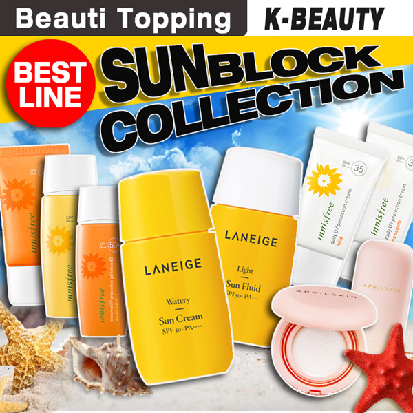 ?Qoo10 Lowest Price?Best Sunblock Collection?Laneige/ Innisfree/ Aprilskin/ Skinfood Deals for only S$19.8 instead of S$0