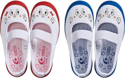 (A倉庫)ムーンスター MS キャラ01 スクールシューズ 上履き 上靴 キャラクター キッズ バレーシューズ 子供 スクール 男の子 女の子 うわばきくん うわばきちゃんの画像