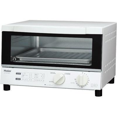 ハイアール1度にトースト4枚や25cmピザが焼けます!オーブントースターJOT-W12B-W