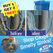 ☆BUY 1 GET 2 FREE☆ Sani Sticks Drain Cleaner Stain Sticks Deodorant Sewer Toilet Kitchen Bath Sewer