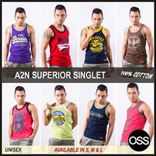 A2N ! 100% COTTON . NEW ARRIVAL . UNISEX SINGLET . FAST DELIVERY !!