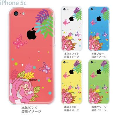 【iPhone5c】【iPhone5cケース】【iPhone5cカバー】【ケース】【カバー】【スマホケース】【クリアケース】【フラワー】【花と蝶】 22-ip5c-ca0060の画像