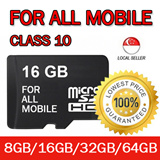 For ALL Mobile Memory Card 8GB/16GB/32GB/64GB Class 10 microSD / High Speed with Life Time Warranty !!! Same as Kingston Sandisk Ultra MicroSD Micro SD SDHC Memory Card Samsung Xiaomi