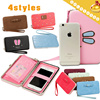 ◆Cute Smart Wallet◆Mobile Phone Package+Wallet/ PU Daily Pouch-4 styles-31 colors