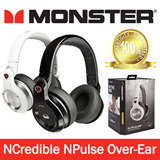Monster NCredible NPulse Over-Ear DJ Headphone (White/Black) - One Year Local Warranty