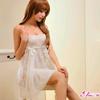 【国内配送】【Anna Mu】 ランジェリー ベビードール z1435【白】【セクシーランジェリー lingerie 下着 インナー】