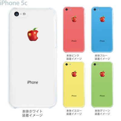 【iPhone5c】【iPhone5c ケース】【iPhone5c カバー】【クリア ケース】【iPhone カバー】【スマホケース】【クリアケース】【イラスト】【クリアーアーツ】【かじったリンゴ】 08-ip5cp-ca0031の画像