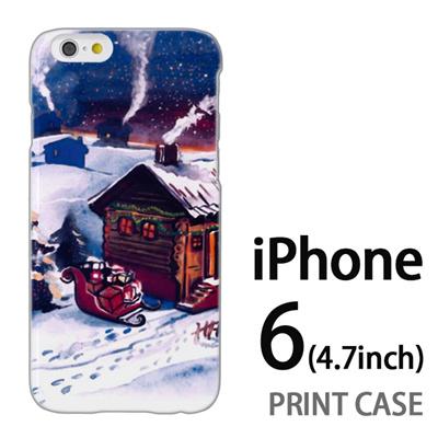 iPhone6 (4.7インチ) 用『1223 サンタさん訪問中 水』特殊印刷ケース【 iphone6 iphone アイフォン アイフォン6 au docomo softbank Apple ケース プリント カバー スマホケース スマホカバー 】の画像