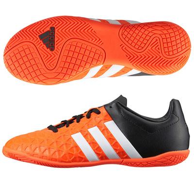 アディダス (adidas) ジュニア エース 15.4 IN J(ソーラーオレンジ×ランニングホワイト×コアブラック) S83205 [分類:サッカー インドアトレーニングシューズ]の画像