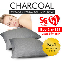 Special 51st National Day Deal! Charcoal Memory Foam Pillow maternity   *FREE SHIPPING* cushion neck buckwheat ostrich pillow for superior and quality sleep which is anti-dust mites antimicrobial
