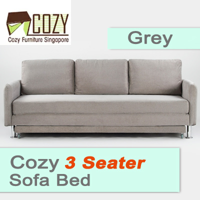 Qoo10 cozy comfortable 3 seater sofa bed front extension for Sofa bed extension