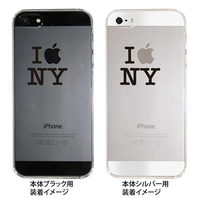 【iPhone5S】【iPhone5】【iPhone5】【ケース】【カバー】【スマホケース】【クリアケース】【I apple NY】 ip5-08-ca0018の画像
