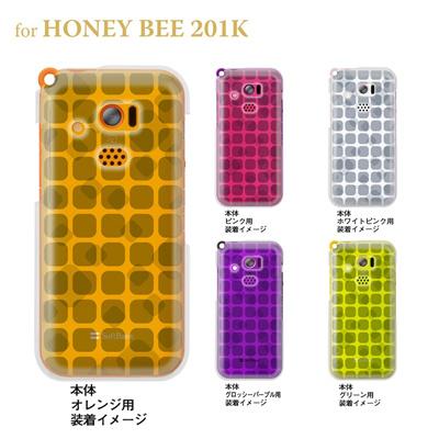【HONEY BEE ケース】【201K】【Soft Bank】【カバー】【スマホケース】【クリアケース】【トランスペアレンツ】【タイル】 06-201k-ca0021qの画像
