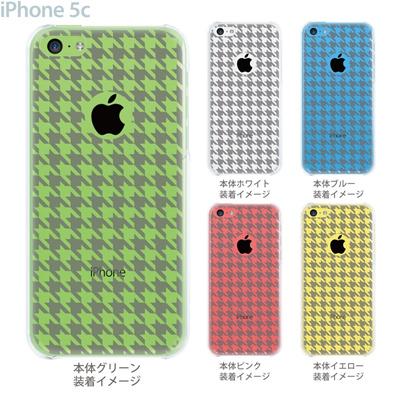 【iPhone5c】【iPhone5c ケース】【iPhone5c カバー】【ケース】【カバー】【スマホケース】【クリアケース】【チェック・ボーダー・ドット】【千鳥格子】 21-ip5c-ca0021の画像