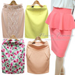 ★SALE★[★NEMO-Skirts]Hot trendy Women Fashion Skirts CNY Skirts CNY clothes Dress/Linen Pencil skirt/Office look/Made in our own factory in KOREA/