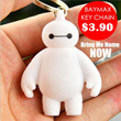 [BUY 5 GET 1 FREE] BAYMAX Key Chain. Cute Action Figure Pendant Keychain Gift.