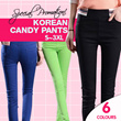 ★ 2016 CANDY COLOR ★ Stretchy Elastic Korean Style Pencil Vibrant Color Designer Trousers Pants for Women Ladies