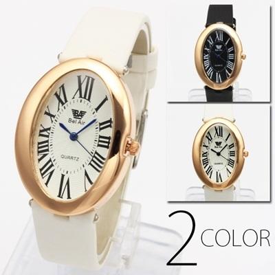 ブレスレット感覚♪ レディース・サークル フェイス腕時計 全2色の画像