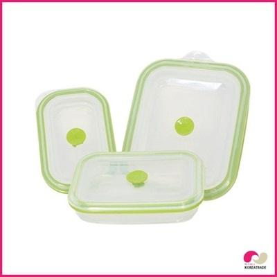 【日用品】 chaeum silicone foodシリコンフードタッパ 3種セットHKS-501HKS-502HKS-505の画像