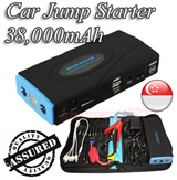 ★SG Seller★ 38000mAh Multi-Function Car Jump Starter Power Bank PowerBank Battery Portable Charger for Laptop Samsung Galaxy S6 S5 S4 Note 4 3 Tab iPhone 6 Plus 5 5S 4S iPad Air Mini Sony HTC XiaoMi