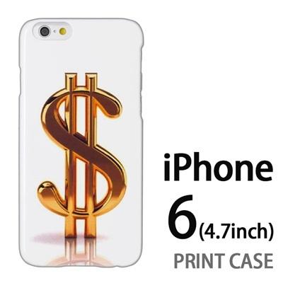 iPhone6 (4.7インチ) 用『1223 ドル ゴールド』特殊印刷ケース【 iphone6 iphone アイフォン アイフォン6 au docomo softbank Apple ケース プリント カバー スマホケース スマホカバー 】の画像
