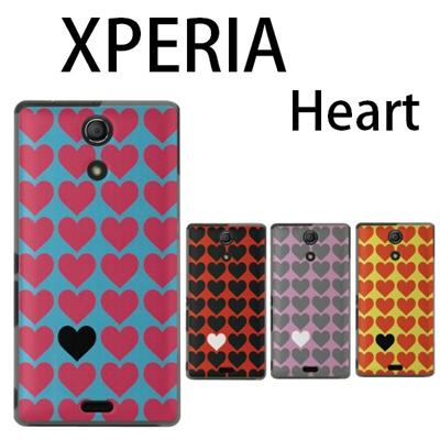 特殊印刷/XPERIA Z4(SO-03G)A4(SO-04G)Z3(SO-02G)(SO-01G)A2(SO-04F)Z2(SO-03F)Z1(SO-01F)A(SO-04E)Z(SO-02E)AX(SO-01E)ケース カバー (ハート・Heart)CCC-104の画像