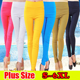 Buy 3 Free Shipping/Plus Size S ~ 6XL * 2 Style 32 Color candy pants